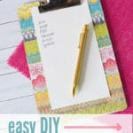 Turn your boring old clipboard into something fun with this easy paper craft!