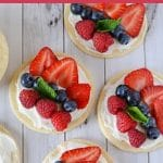 Fruit pizza collage