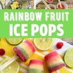 Rainbow popsicle collage