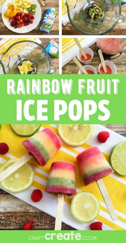 Rainbow popsicle collage
