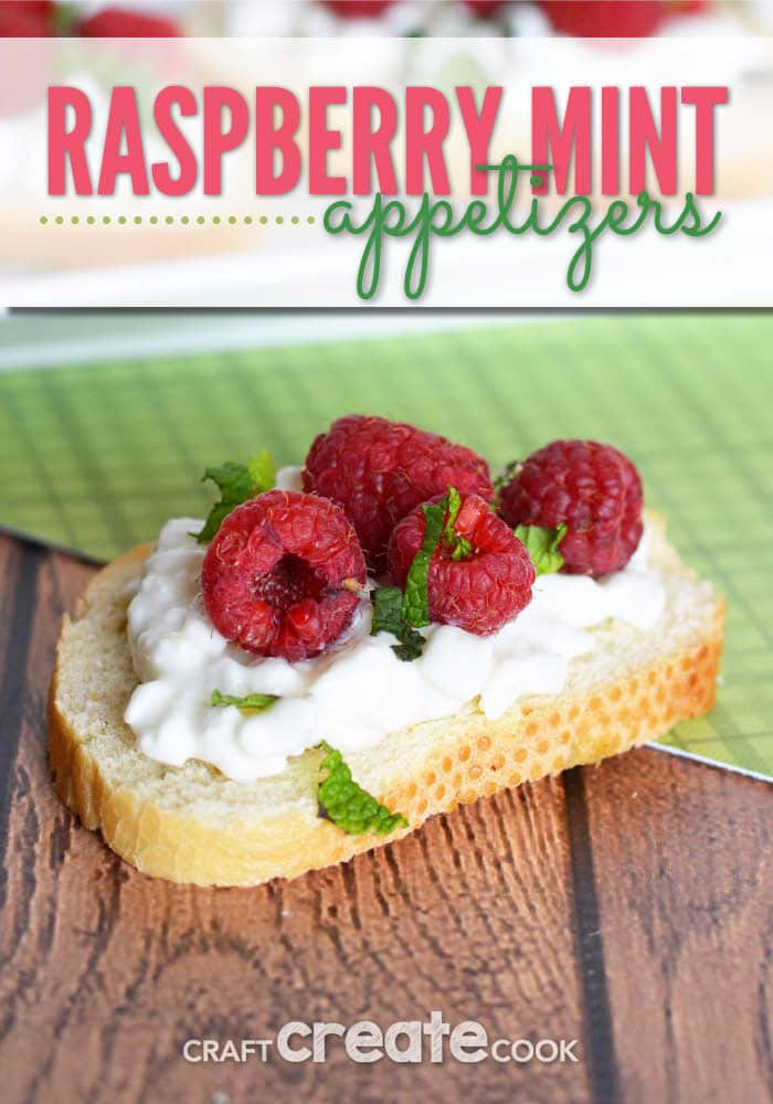 With only 4 ingredients, these unique and delicious raspberry mint appetizers will disappear quickly at your next party.