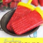 With only 1 ingredient these Strawberry Fruit Popsicles are easy to make and delicious!