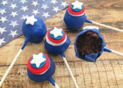 What's a better way to celebrate America's birthday than eating cake right? These Red, White, and Blue Cake Pops are perfect for the occasion.