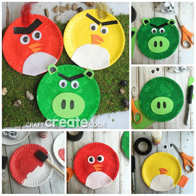 Kids will love this easy and cute Angry Birds paper plate craft!  sc 1 st  Craft Create Cook & Craft Create Cook - Angry Birds Paper Plate Kids Craft - Craft ...
