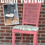 Easy DIY shabby chic Chalk Paint Chair Refinishing Project