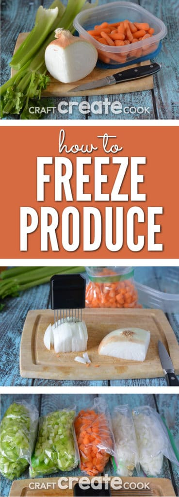 Freezing produce for future use will be a time and money saver!