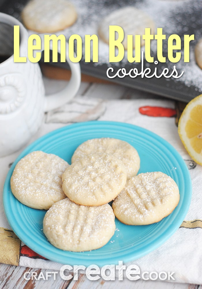 These Classic Lemon Butter Cookies will melt in your mouth and go perfectly with a hot cup of coffee!