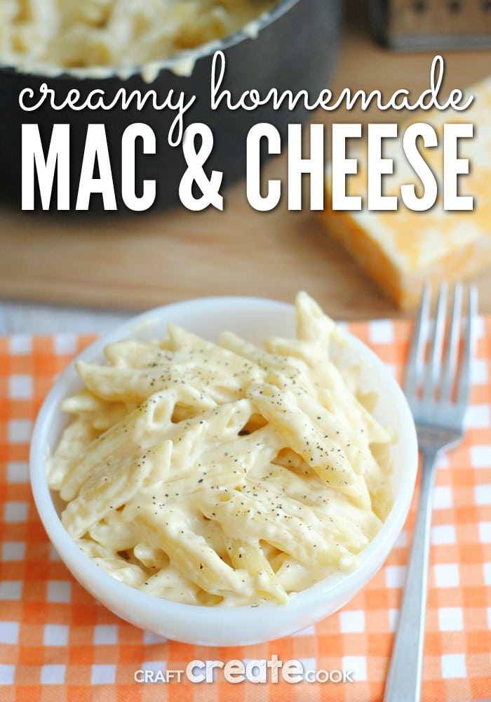 This one pot mac & cheese is easy and delicious!