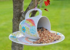 These bird feeders are fun to make and will certainly help attract birds to your yard!