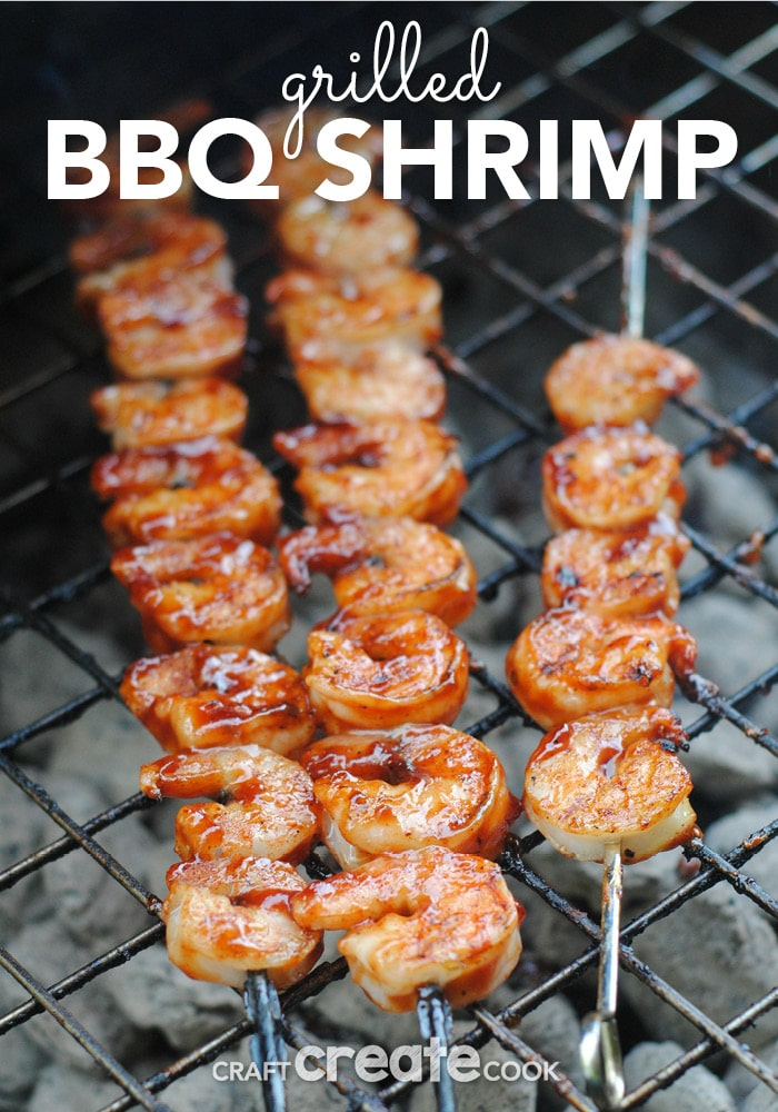 These grilled BBQ shrimp are easy to make and delicious!
