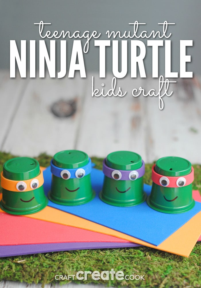 Your kids will love this fun TMNT craft!
