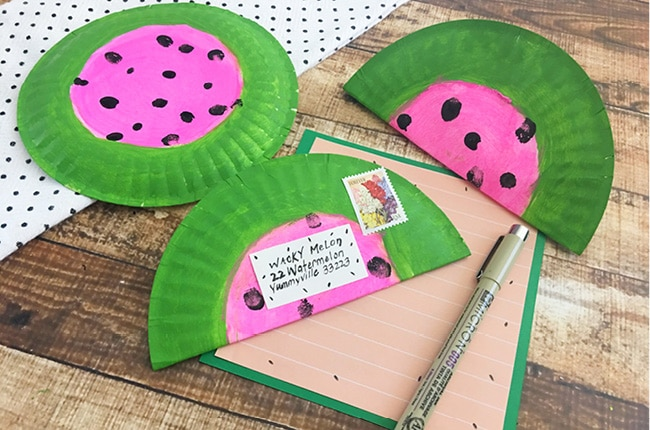 you will love our Easy Wacky Melon Pen Pal craft