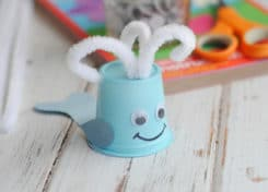 The kids will love this cute upcycled whale craft!