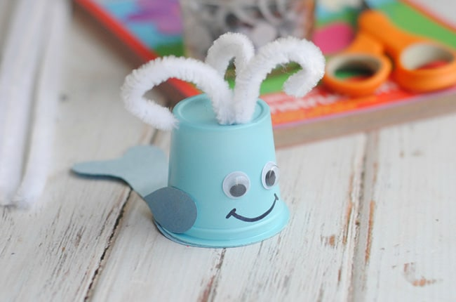 Craft create cook kids upcycled k cup whale craft for Whale crafts for kids