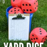 Outdoor lawn games are a must for summer! Our DIY Yard Dice Game will be a hit at your next gathering!