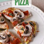 With a few simple ingredients, this Zucchini Pizza will be a hit in no time at the dinner table!