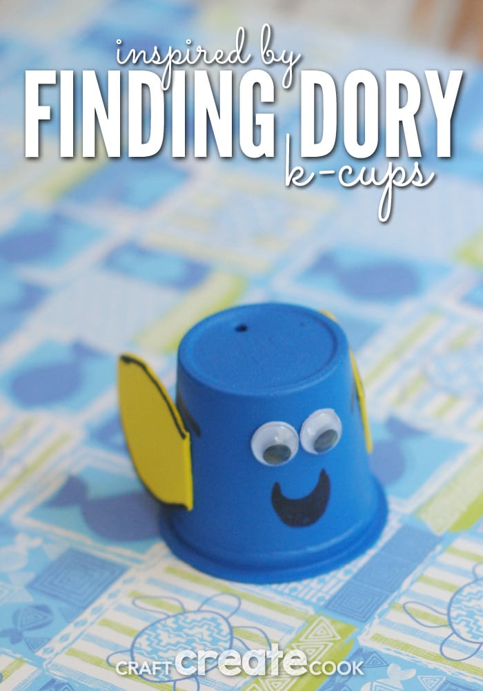Your kids will love this fun and easy Finding Dory k-cup craft!