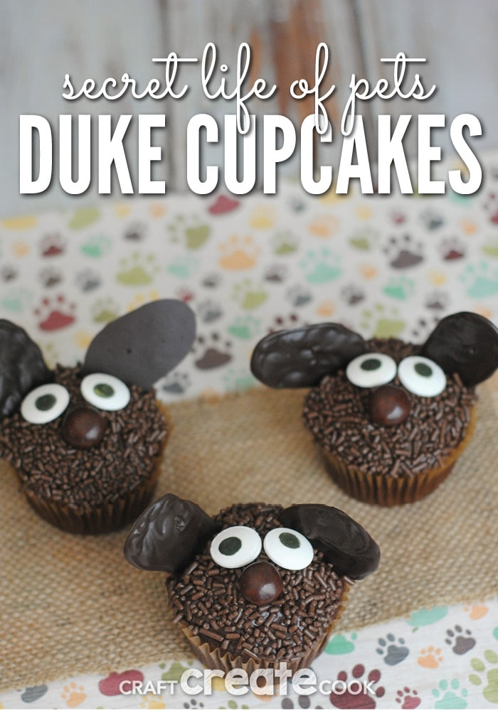 Kids will love these adorable Secret Life of Pets Duke Cupcakes!