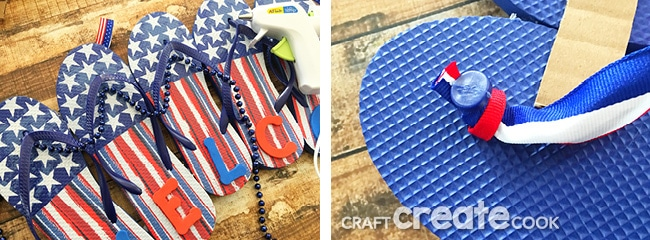 If you love summer time and flip flops, this easy DIY flip flop welcome sign is for you.