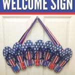 If you love summertime and flip flops, this easy DIY flip flog welcome sign is for you.