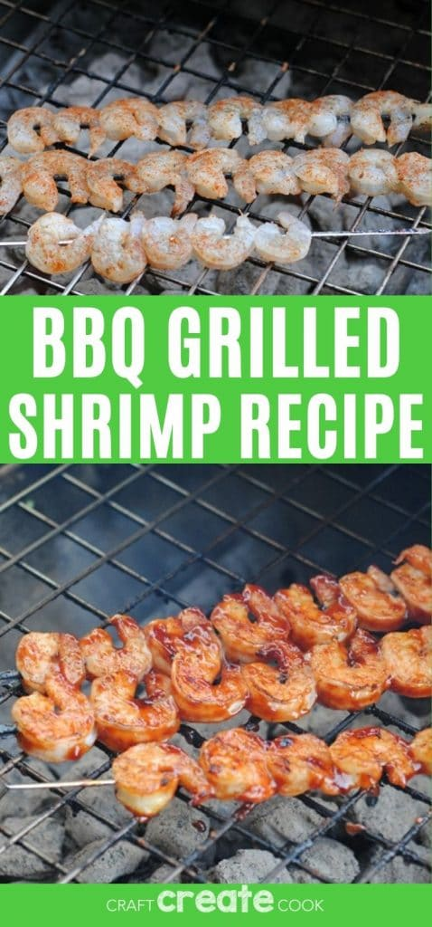 Grilled shrimp collage