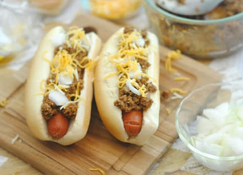 Your family will love these yummy taco coney dogs!