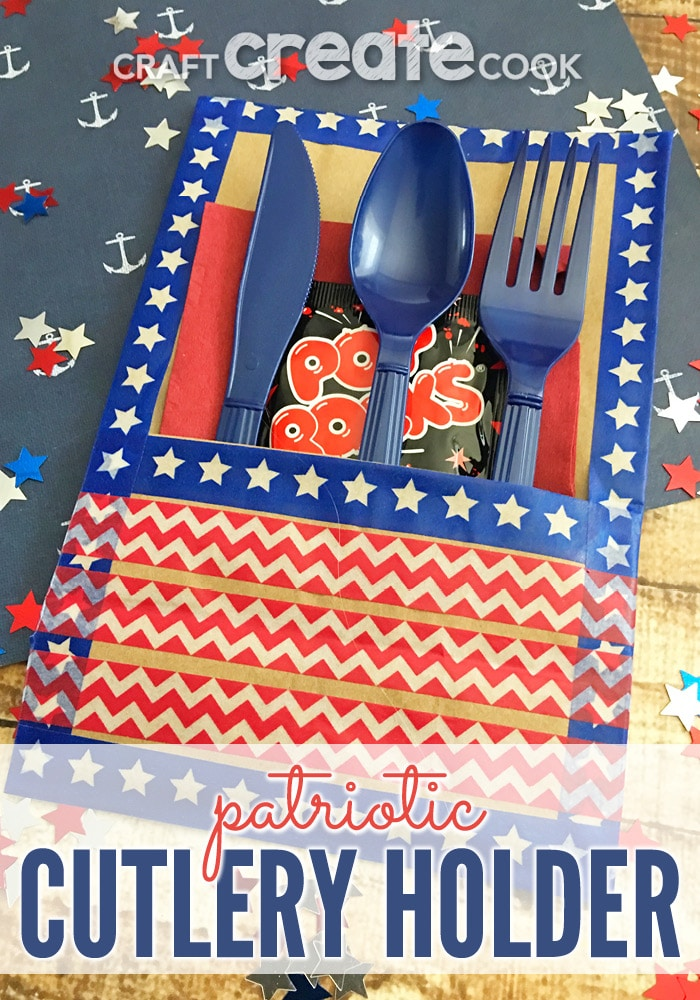 You'll want to make these Patriotic Cutlery Holders for your festive get togethers with your friends and family.