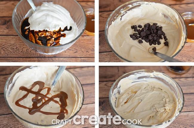 Coffee, caramel and chocolate combine to make this amazing no-machine-required homemade ice cream.