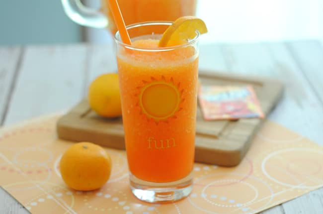 Your kids will love this kid friendly orange Kool-Aid slushie!