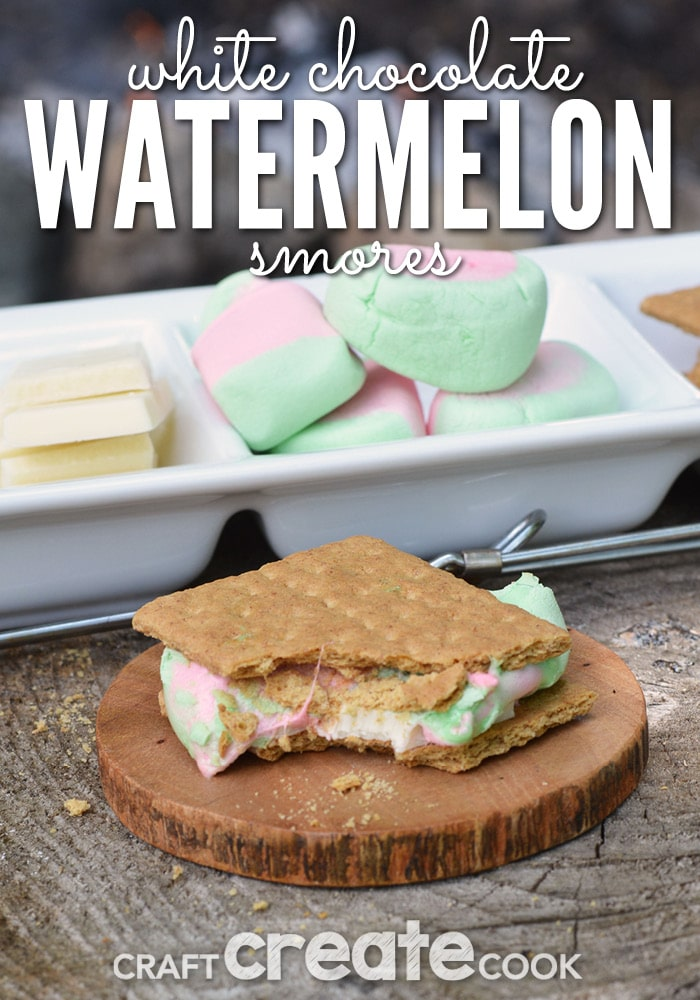 Using white chocolate and watermelon marshmallows, you'll be surprised how tasty this gourmet smore really is.