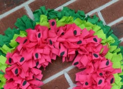 Nothing says summer like this easy watermelon wreath!