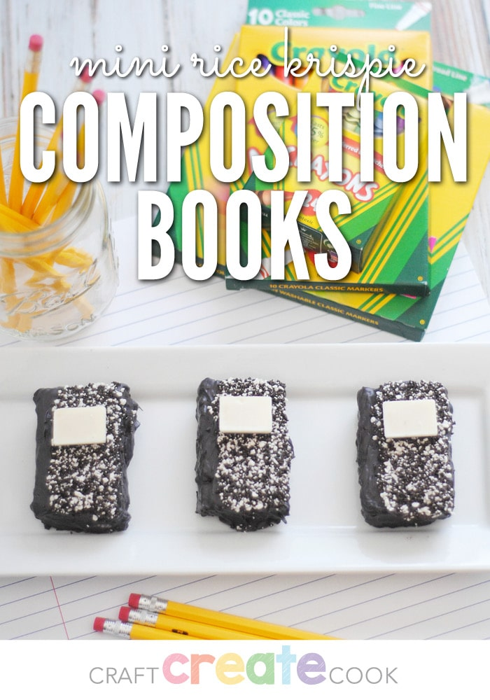 These Rice Krispie Treat Composition Books are as cute as they are yummy!
