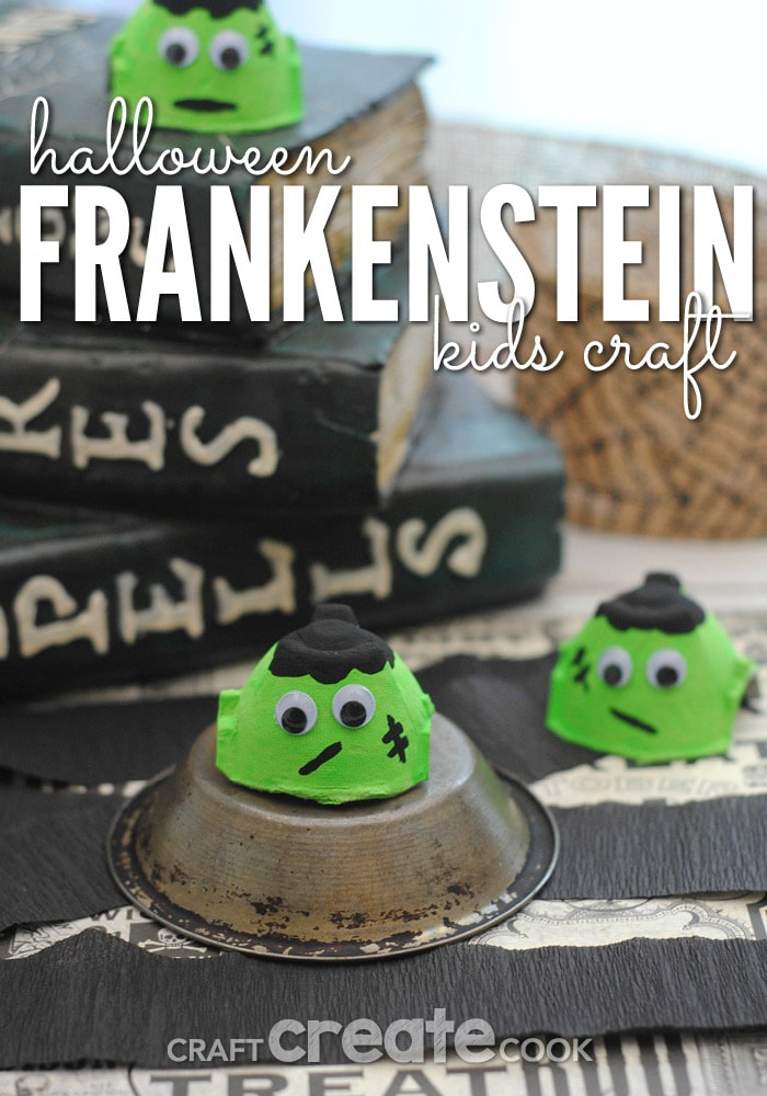 The kids will love this easy Halloween Frankenstein craft!