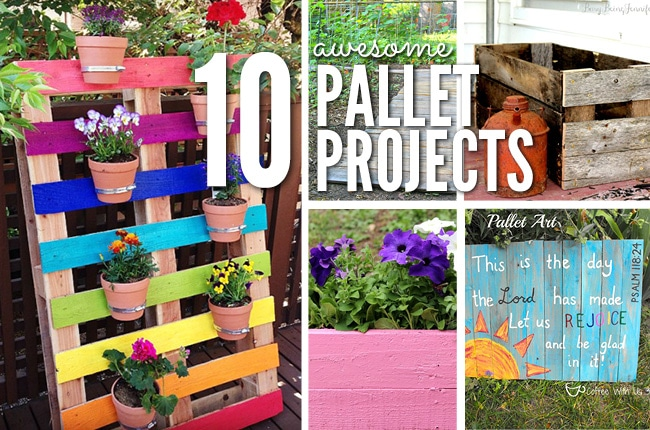 You will love these creative and fun DIY pallet upcycle ideas!