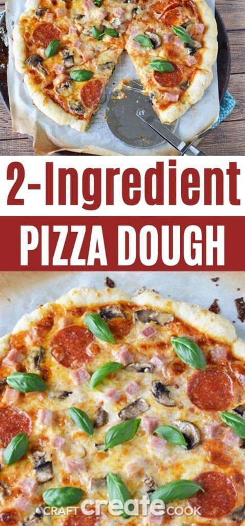 Pizza dough collage