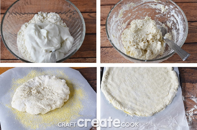 Sounds too good to be true, but this 2 ingredient homemade pizza dough is amazing. You'll want to make it for dinner tomorrow!