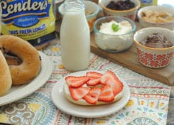 This DIY Lender's Bagel Breakfast Bar will be a hit with your family!