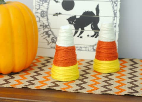 This easy DIY Candy Corn decor will look great all through the fall season and Halloween!