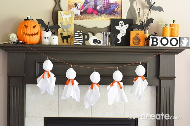 Halloween decorations don't have to be expensive or elaborate! These spooky ghosts will be adorable in your house with your other Halloween decorations!