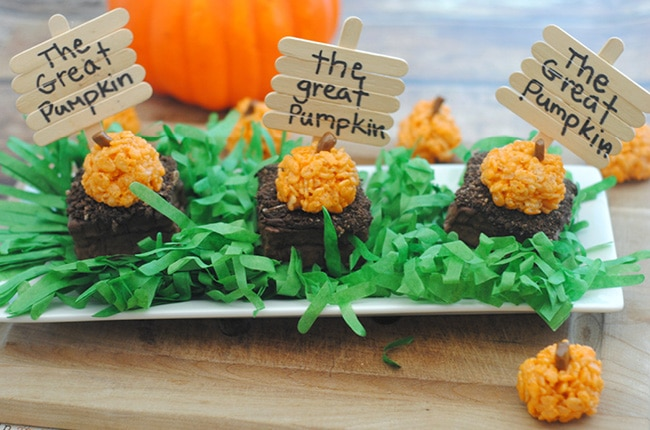 Craft Create Cook - Pumpkin Patch Halloween Treats - Craft Create Cook