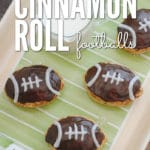 Football fans everywhere will LOVE these easy Cinnamon Roll Footballs!