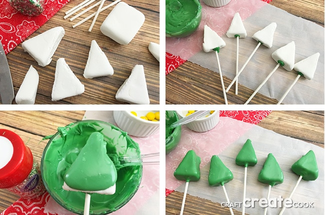 If you're like me and always looking for a fun and creative treat for the holidays, these Christmas Tree Marshmallow Pops are all that and more!