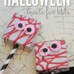 These easy no bake Halloween Monster Treats are perfect for class Halloween parties and last minute treats!