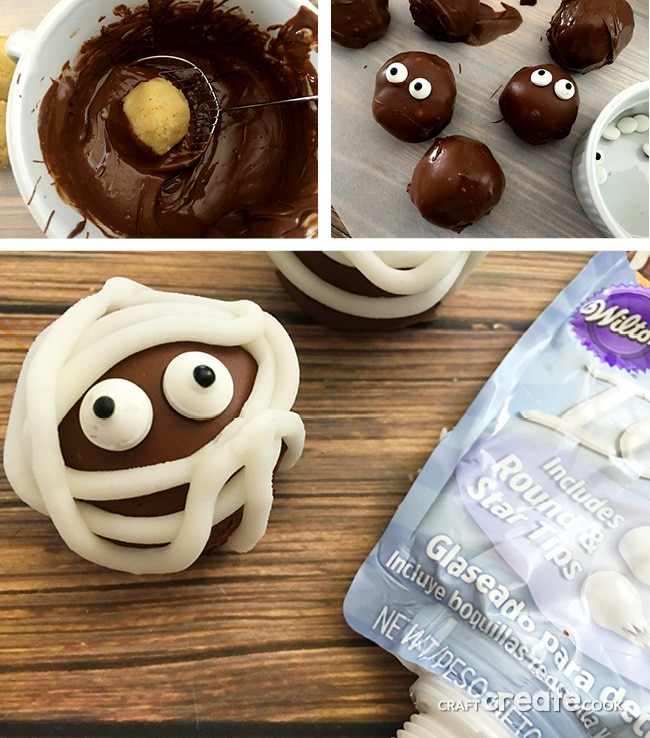 Still searching for a cute Halloween treat? Look no further, these Mummy Cake Truffles will make your eyes and tummy happy.