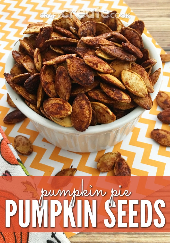 Save those pumpkin seeds from your carved pumpkins and make some delicious baked pumpkin pie pumpkin seeds.