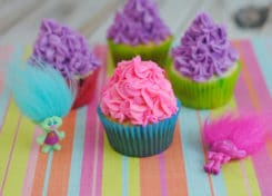 These Trolls Cupcakes are perfect way to celebrate the Dreamworks Trolls movie!