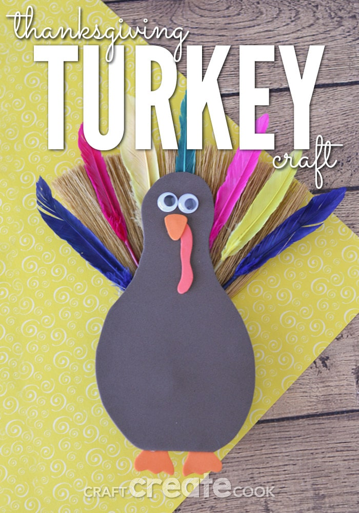 This Thanksgiving turkey craft is easy to make and looks great in your home.
