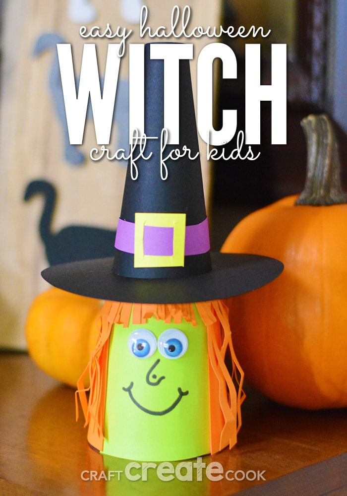 This paper witch Halloween craft is a fun project to work on with your kids! Have them add their own personal touch to make a unique witch to add to your home decor.
