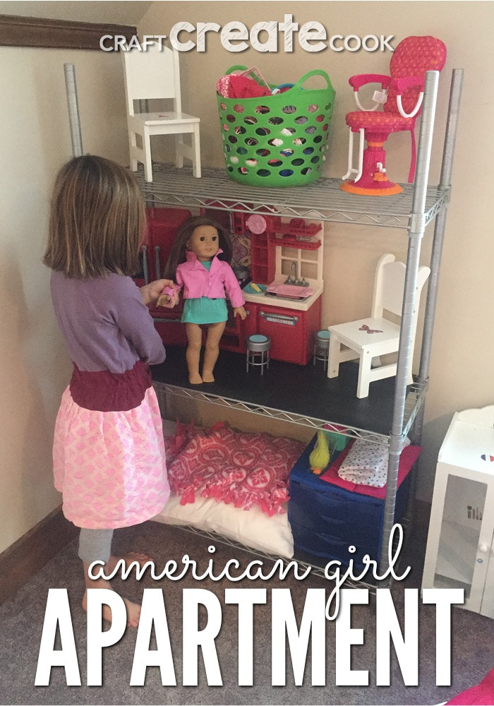 Your Kids And American Girl Dolls Will Love This Easy DIY American Girl Doll  Apartment!