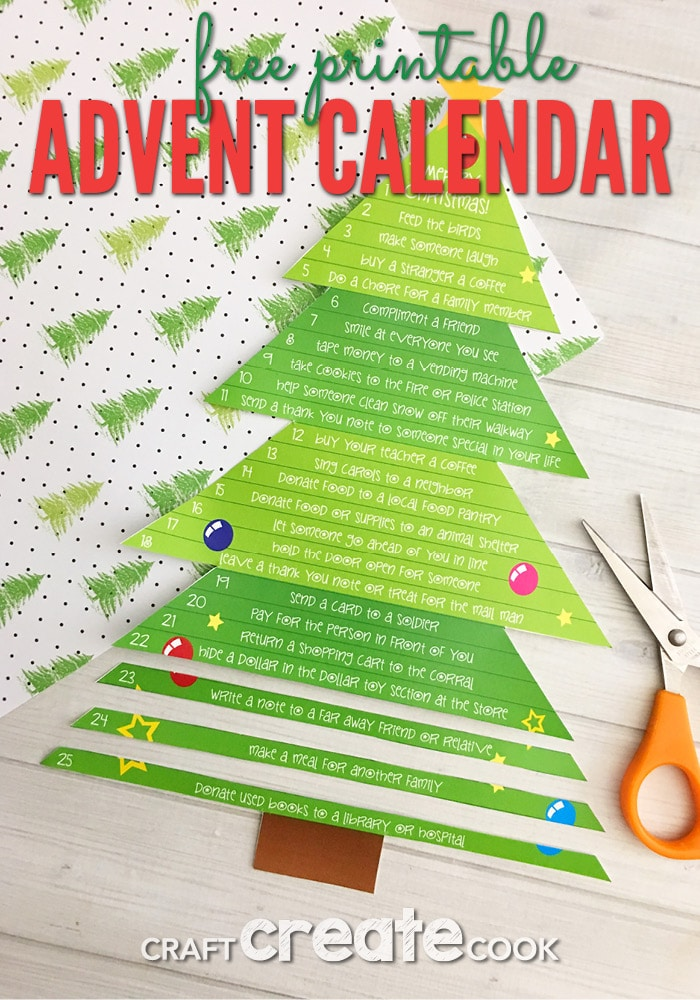 If you've been counting down the days until Christmas like me, then you will love our Printable Christmas Tree Advent Calendar.